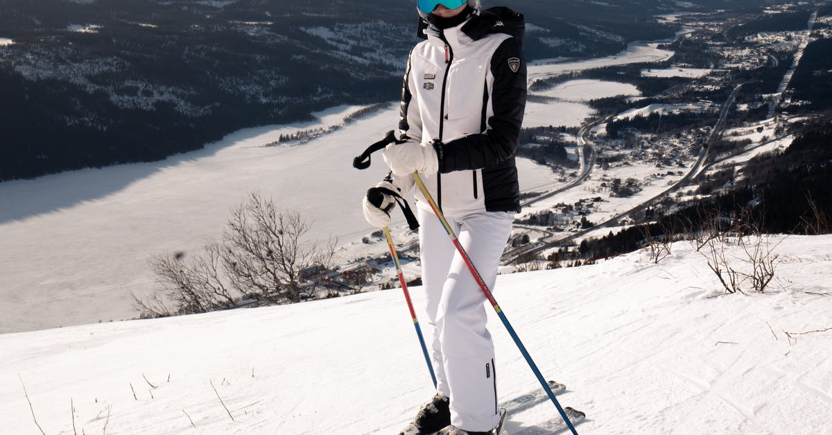 A person standing on top of a snow covered slope