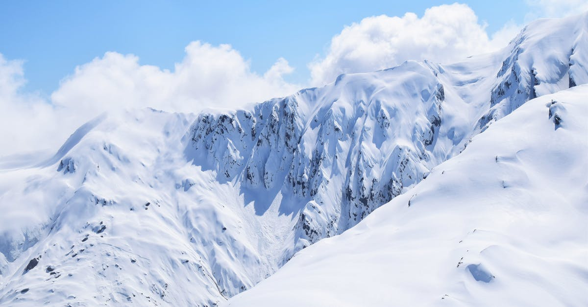 A view of a snow covered mountain